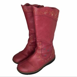 Umi Girl's Pink Folklore Boot